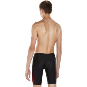 speedo Gala Logo Panel Caleçon de bain Garçon, black/risk red